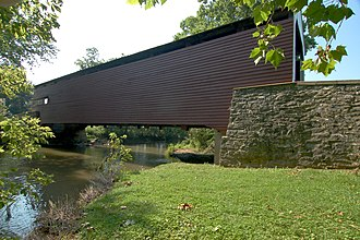 Rapho Township, Lancaster County, Pennsylvania - Schenck's Mill Covered Bridge in Rapho Township