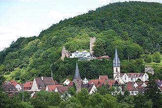 Gemünden am Main - Scherenburg above Gemünden