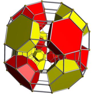 Omnitruncated tesseractic honeycomb - Image: Schlegel half solid omnitruncated 8 cell