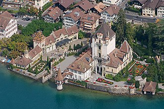 Oberhofen am Thunersee - Aerial view of the castle
