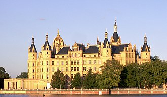 Schwerin Palace - Schwerin Palace, seen from the west