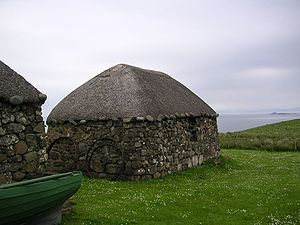 Blackhouse - Restored blackhouse in a museum on Trotternish, Skye