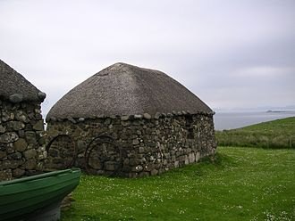 Trotternish - Blackhouse in The Skye Museum of Island Life on Trotternish