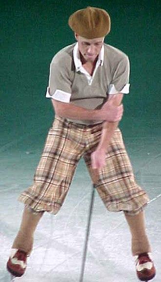 Scott Hamilton (figure skater) - Hamilton performs during a Stars on Ice show, April 2002