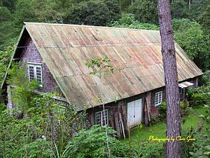 William Henry Scott (historian) - Scott's house in Sagada, viewed from the former Training School in 2007