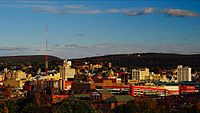 Scranton, Pennsylvania's skyline- --Scranton, Pennsylvania-- is the largest city in the northeastern part of Pennsylvania- 2014-07-07 21-52.jpg