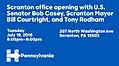 Scranton office opening with U.S. Senator Bob Casey, Scranton Mayor Bill Courtright, and Tony Rodham (2).jpg