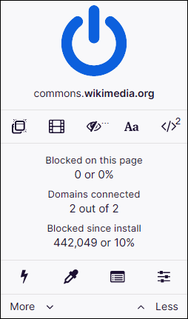 uBlock Origin Free and open-source content-filtering and ad-blocking browser extension