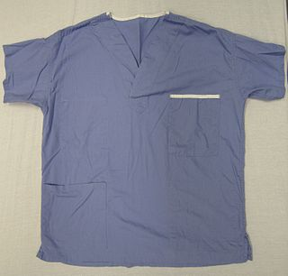 lighweight, washable clothing worn by hospital staff or other medical personnel