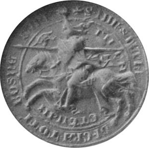 Tvrtko I of Bosnia - Seal of King Tvrtko I