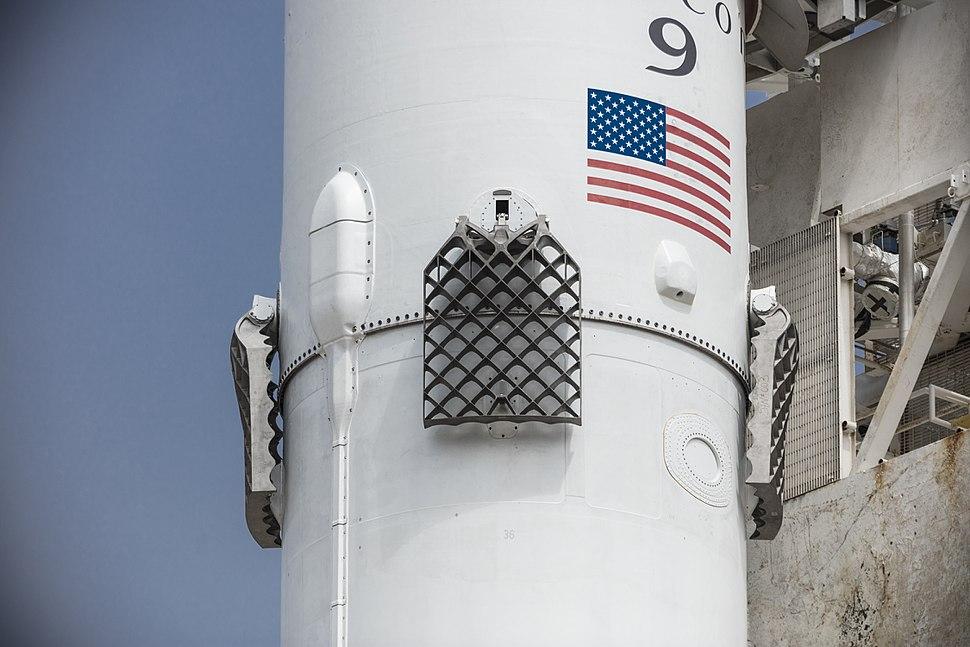 Second-generation titanium grid fins, Iridium-2 Mission (35533873795)