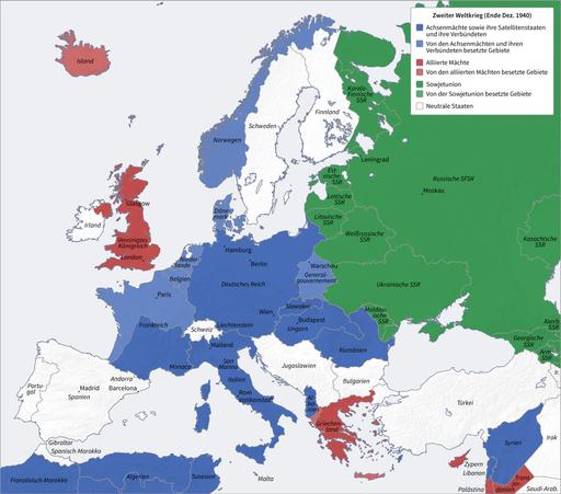 Second World War Europe 12 1940 de