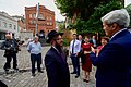 Secretary Kerry Speaks With a Rabbi of a Jewish Synagogue in the Historic District of Tbilisi (27517850574).jpg