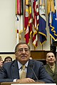 Secretary of Defense Leon E. Panetta, left, pauses during his testimony to the House Armed Services Committee at the House of Representatives in Washington, D.C., Oct. 13, 2011 111013-D-BW835-004.jpg