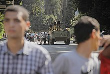 Security forces and protesters in Maadi-Cairo 20-Sep-2013.jpg