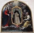 Seguace del volterrano, Madonna, Caterina d'Alessandria e Maria Maddalena presentano un ritratto di san domenico di soriano, xvii sec..JPG