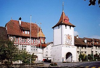 Sempach - The Lucerne gate (Luzernertor) at the entrance to Sempach