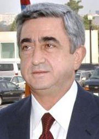 Armenian presidential election, 2013 - Image: Serzh Sargsyan cropped