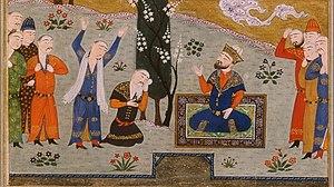 Shah Ghazi Rustam - Shah Ghazi Rustam and his court