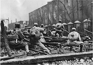 January 28 Incident - The Chinese 19th Route Army in a defensive position.