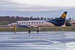 Sharp Airlines (VH-MYI) Fairchild SA-227DC Metro 23 parked on the tarmac at Wagga Wagga Airport.jpg