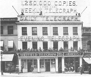 Sheffield Telegraph - Offices of the Sheffield Daily Telegraph in 1898.