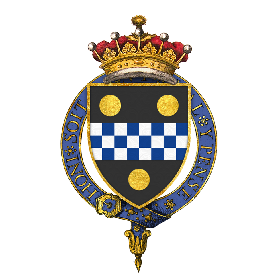 Shield of arms of John Pitt, 2nd Earl of Chatham, KG, PC