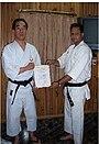 Shihan narumi and shihan mazhar,japan shotokan-ryu karatedo narumi-kai federation.JPG