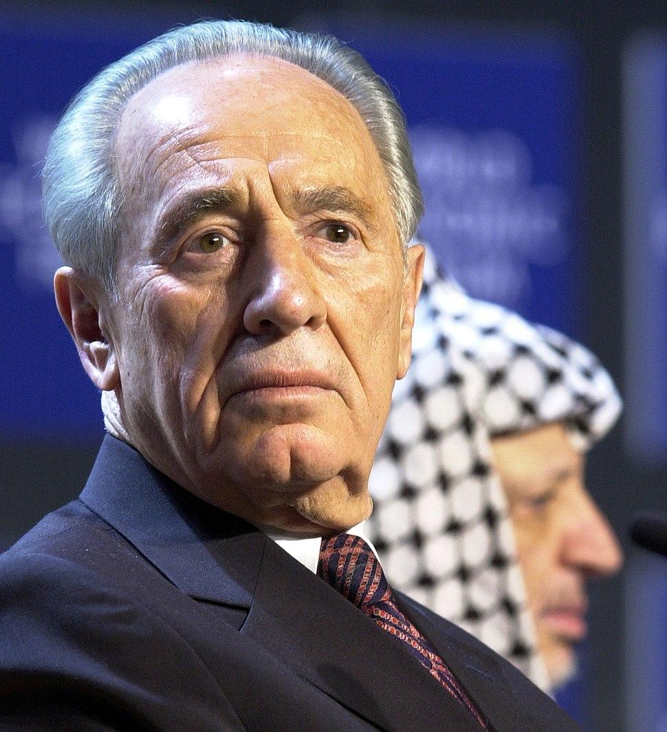 Shimon Peres, Yasser Arafat - World Economic Forum Annual Meeting Davos 2001