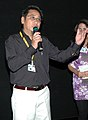 Shri Ningthouja Lancha, Director of the film ' Illisa Amagi Mahao' at the presentation of the film during the 40th International Film Festival (IFFI-2009), at Panaji, Goa on November 26, 2009.jpg