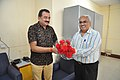 Shrikant Pathak Greets Prabhas Kumar Singh With Flowers - NCSM - Kolkata 2017-07-11 3385.JPG