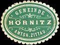 Siegelmarke Gemeinde Hörnitz - Amtsh. Zittau W0220320.jpg