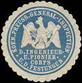 Siegelmarke K.Pr. General-Inspection d. Ingenieur- und Pioniercorps und der Festungen W0363444.jpg