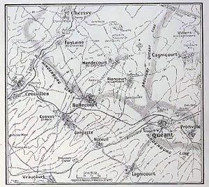 20th (Light) Division - Hindenburg defences, Quéant, 1917