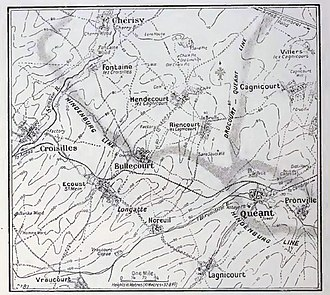 20th (Light) Division - Hindenburg defences, Quéant, 1917