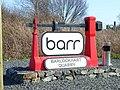 Sign at Barlockhart Quarry - geograph.org.uk - 173453.jpg