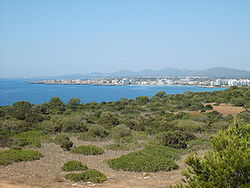A view of the bay of s'Illot and Sa Coma