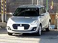 Silver Suzuki SWIFT XL (DBA-ZC83S) front.jpg