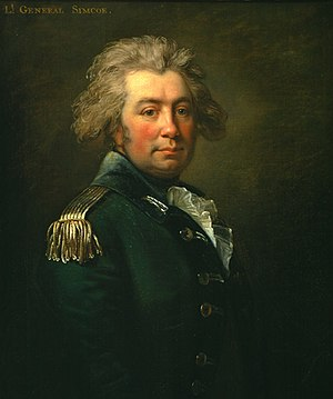 Battle of Spencer's Ordinary - Portrait of John Graves Simcoe in uniform of the Queen's Rangers Jean Laurent Mosnier, 1791