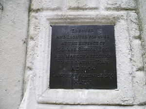 Simeon Monument - Plaque on south face of base