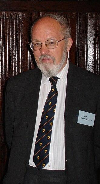 John Baker (legal historian) - Sir John Baker