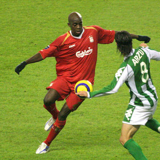 Mohamed Sissoko - Sissoko playing for Liverpool in 2005