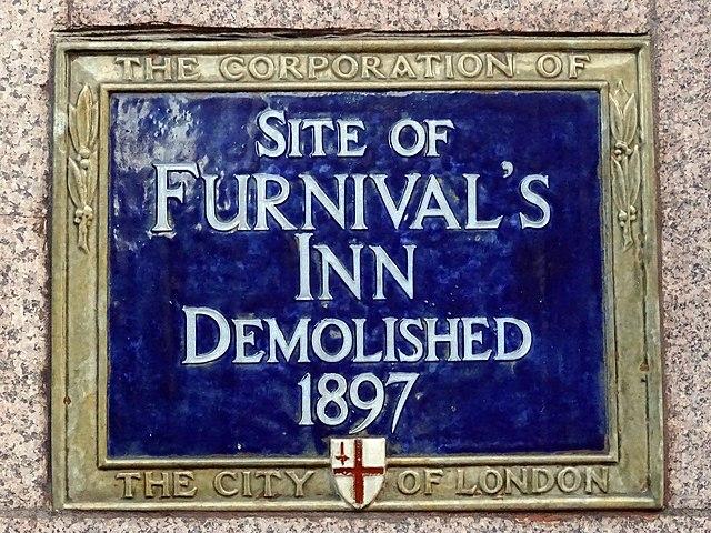 Blue plaque № 6104 - Site of Furnival's Inn demolished 1897