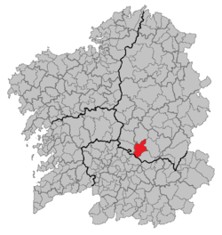 Situation of Pantón within Galicia