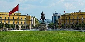 Tirana - Image: Skanderbeg square tirana 2016