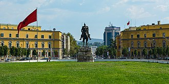 Skanderbeg Square - View of the Skanderbeg Square.