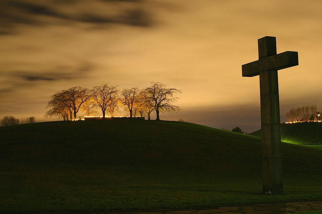 Cementerio de Skogskyrkogarden. Luces del dia de difuntos