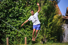 Image illustrative de l'article Slackline
