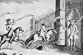 Battle of Prestonpans - Contemporary depiction of Cope's flight to Berwick