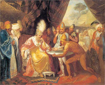 Franciszek Smuglewicz, Posłowie scytyjscy przed Dariuszem